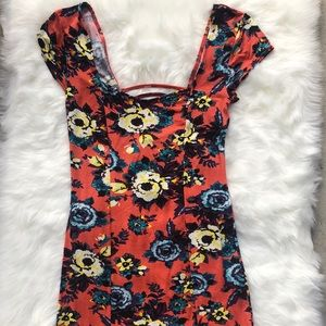 Intimately Free People bodycon floral dress medium